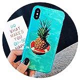 Coque de téléphone rétro Peinte aux Fruits pour iPhone X pour iPhone 7, 6, 6S, 8...