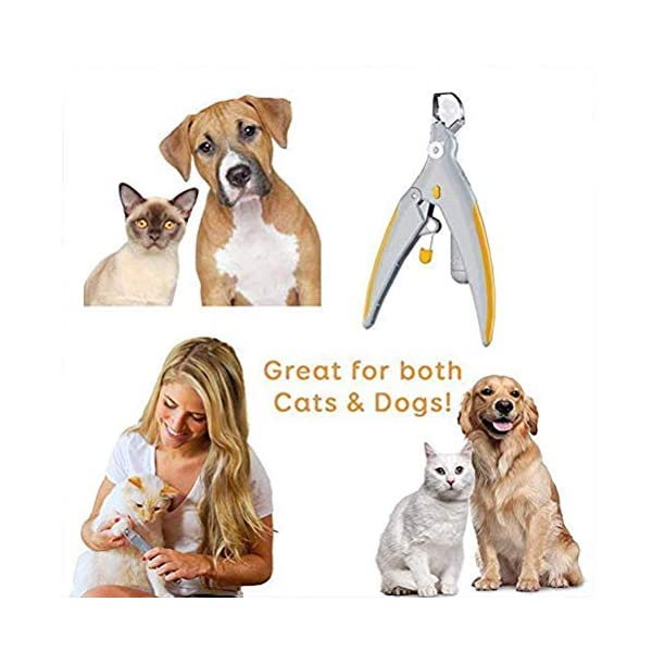 2018 Magic Nails Pets Cutter Pet Nail Clipper, Dog Nail Trimmer and Toenail Clippers, Pet Nail Scissor Great for Cats & Dogs, Features LED Light 2