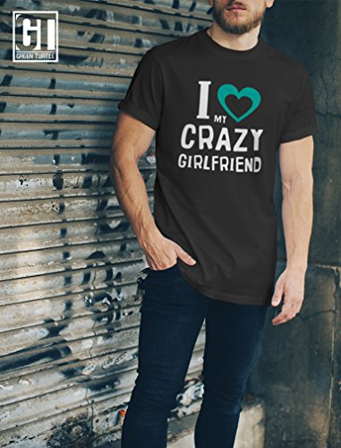 I Love my Crazy GF Pärchenmotiv für Valentinstag T-Shirt Rot