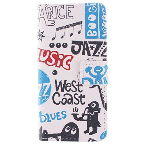 """MOONCASE iPhone 6 Case Dessin Coloré Coque en Cuir Haute Qualité Portefeuille Housse de Protection Étui à rabat Case pour iPhone 6 (4.7"""") -LK08 ST22"""
