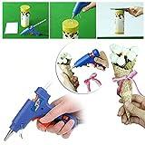 MAIKEHIGH Mini-Heiß klebepistole mit 30 Stück ( 7 x 250 mm ) Heißklebesticks Hochtemperatur-Schmelzklebepistole-Kit Flexibler Trigger für DIY Kleine Craft-Projekte (20-Watt, Blau)