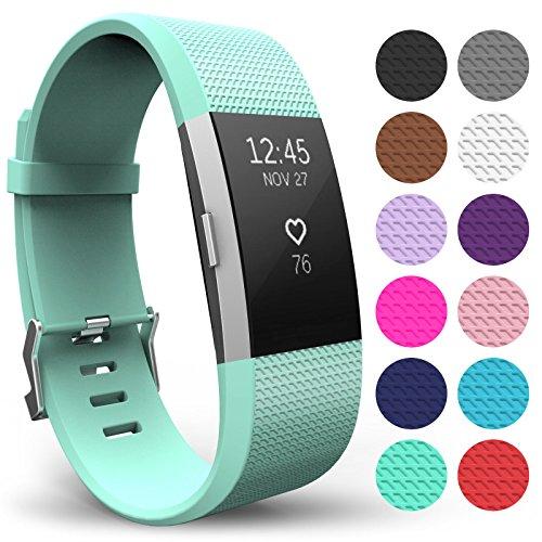 Yousave Accessories® FitBit Charge 2 Armband, Ersatz Armband – Wristband erhältlich in 12 Farben – Klein, Minzgrün
