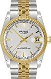 PARNIS Orologio automatico 3236Miyota Elegance Vetro zaffiro Ø 35mm in acciaio inox massiccio Jubilee braccialetto Unisex oro argento