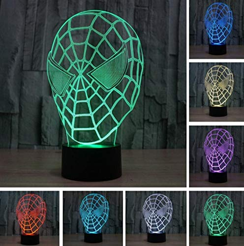 Heißer Verkauf Superheld Mann Figur Spider man 3D Lampe Multicolor Led Gradienten Nachtlicht Lampara Kreative Festival Kind Geburtstagsgeschenk