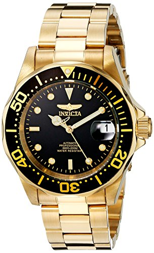 INVICTA 8929 GENTS 40MM GOLD STEEL BRACELET & CASE AUTOMATIC FLAME FUSION WATCH