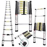 Meditool 3.8M Scala alluminio telescopica scala portatile scale telescopiche pieghevoli Capacità 150kg