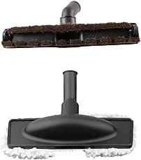 MagiDeal Set 2 Compatible Vacuum Cleaner Attachment Brush Heads- Soft Horsehair Floor Brush & Cotton Brush, 32mm/1.25' Dia. Connector