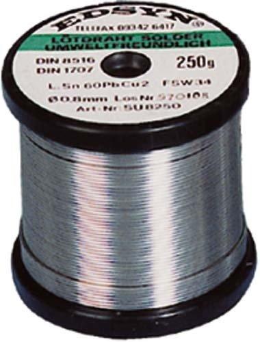 Preisvergleich Produktbild Lötdraht 1,0 mm 250 gramm Sn60 Pb38 Cu2