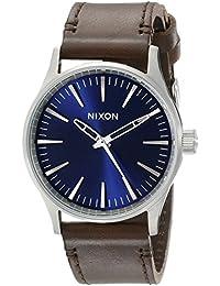 Nixon Herren-Armbanduhr Sentry 38 Analog Quarz Leder A3771524-00