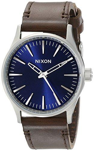 nixon-herren-armbanduhr-sentry-38-analog-quarz-leder-a3771524-00