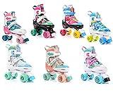 meteor® Retro Rollschuhe: Disco Roller Skate wie in den 80er Jahren, Jugend Rollschuhe, Kinder Quad Skate,Farbvarianten - Lula