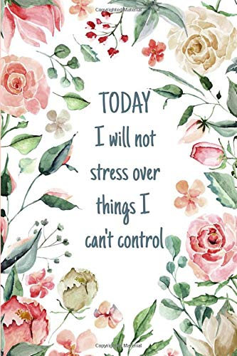 Womens Relief (Today I Will Not Stress Over Things I Can't Control: Anxiety Stress Worry Relief Journal For Women With Mandala Coloring Pages)