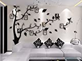 Shrinkable Acryl Wandaufkleber Wand Sticker mit Abnehmbar Zweigen und Bilderrahm...