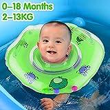 GBD Anello di Sicurezza Galleggiante Nuoto Infantile, Doppio airbag Galleggiante per Bambini 0-18 Mesi Giocattoli Allenamento per Piscina per Bambini Piccoli (Verde)