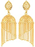 Shining Jewel Gold Brass Jhumki Earrings...
