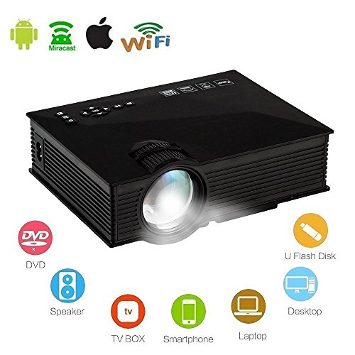 Mengshen® WiFi HD Proyector Portátil Mini Inalámbrico LED projector Digital LCD 1920...