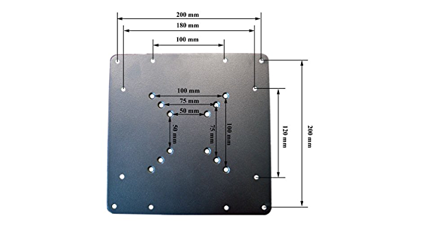 Adapterplatte 200 X 200 Vesa Adapter Platte 200 X 100 Elektronik