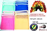 #7: Daddy Gtm (Pack Of 12) Multi-Purpose Vegetables Fruits Mesh Fridge Storage Washable Zip Bags