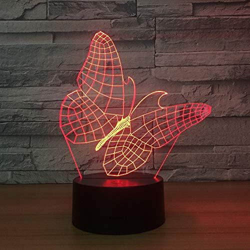 Mhc 3D LED Optische Illusion Nachtlicht Nachtlampe Acryl USB Powered Kinder 7 Wechselnden Farben Schlafzimmer Weihnachtsdekoration Geburtstagsgeschenk Touch Und Fernbedienung Switch-1165 -