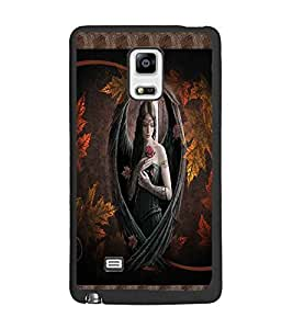 PrintDhaba Beautiful Girl D-4078 Back Case Cover for SAMSUNG GALAXY NOTE EDGE (Multi-Coloured)