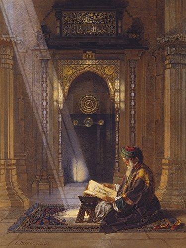 Artland Qualitätsbilder I Poster Kunstdruck Bilder 60 x 80 cm Religion Islam Malerei Braun A2WY in der Moschee