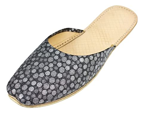 Womens Multicoloured Casual Leather Indian Khussa Slippers Size 4uk Khu6679