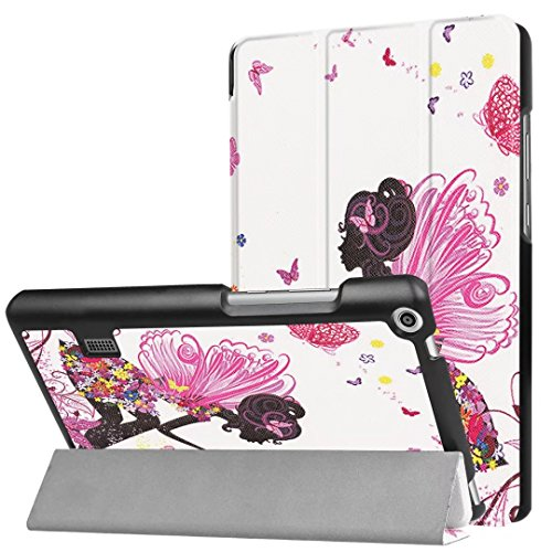 XITODA HUAWEI MediaPad T3 7 WiFi Hülle,Ultra Slim PU Leder Etui Tasche mit Stand Funktion Hülle für HUAWEI MediaPad T3 7 WiFi 179mm 7.0 Zoll Tablet 2017 Tablet Case Cover Schutzhülle(Zauberer Mädchen) (7 Zoll Tablet Tasche Für Mädchen)