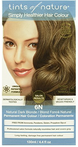 Tints of Nature Organic 6N Natural Dark Blonde Conditioning Permanent Hair Colour 130ml - Blonde Natural