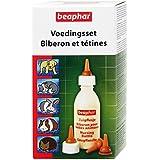 Beaphar - Pack biberon et tétines + brosse à nettoyer - jeunes animaux