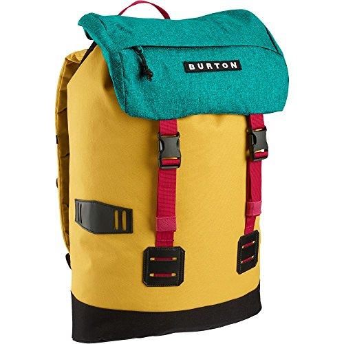Burton Tinder Pack - Mochila con cierre de clip, 32 x 16 x 52 cm, color amarillo y verde