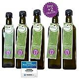 BIO Leinsamenöl Leinöl von BIOMOND/500 ml/AKTION 3 plus 2/2 Flaschen Gratis/TESTSIEGER/nativ/Speiseöl