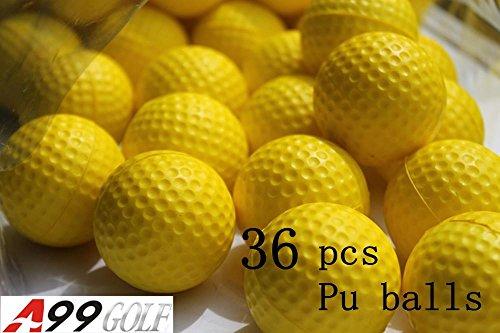 36 boules en mousse PU de golf Jaune restreint balles de golf d'entraînement de vol d'entraînement