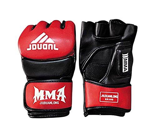 Kämpfen Halbfingerhandschuhe -UFC Boxhandschuhe - Handschuhe MMA 2 --black Red