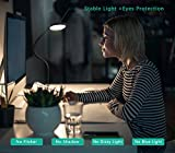 from Aglaia Aglaia Eye Care Desk Lamp LED Clamp Touch , USB Powered, 350 CM Cable and 360  Flexible Neck ,2 Kinds of Installation Mode for Bed Room ,OffIce,Living Room ,Studio (Black)