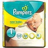 Pampers New Baby Taille 1 2-5kg nouveau-né (23) - Paquet de 2