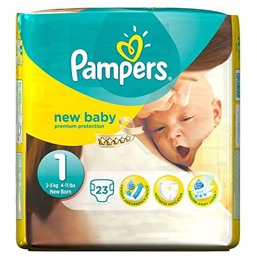 Preisvergleich Produktbild Pampers New Baby Größe 1 Newborn 2-5kg (23) - Packung mit 2
