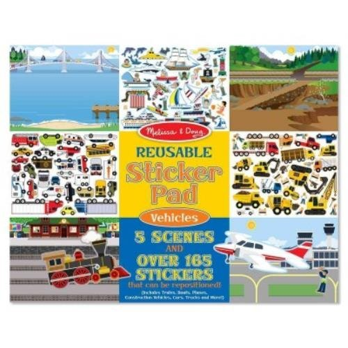 Reusable Sticker Pad - Vehicles: Reusable Sticker Pad - Vehicles by Melissa & Doug (Creator) (1-Jan-2013) Paperback