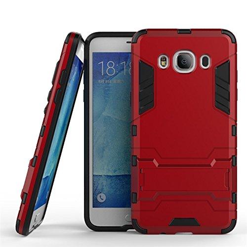Galaxy J5 Hülle (2016), CHcase (Rüstung Series) Samsung J5 Dual Layer Hybrid Handyhülle Drop Resistance Handys Schutz Hülle mit Ständer für 2016 Samsung Galaxy J5 -Red Rüstung Series Case
