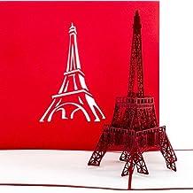 """Pop Up Karte """"Paris Eiffelturm"""" - Gutschein, Reisegutschein Paris Frankreich, 3D Karte, Einladung, Gutscheinkarte, Einladungskarte, Grußkarte Paris, Geschenkkarte, Pop Up Geburtstagskarten"""