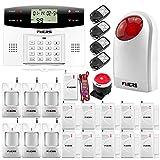 FuersG2 –Alarma para casa GSM PSTN con llamada y sirena exterior antirrobo de 99 zonas + Alarma de fuga de agua