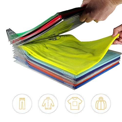 GUOYIHUA Kleidung Organisation System, 10/set T-Shirt Kleidung Ordner großen Magic Schnelle Wäsche Organizer Zusammenklappbar Board Regal