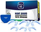 Anti Teeth Grinding Custom Moldable Dental Night Guard, Stops Bruxism,Tmj & Eliminates Teeth Clenching. Pack of 6 Guards in 2 Sizes for Custom Fit-BPA