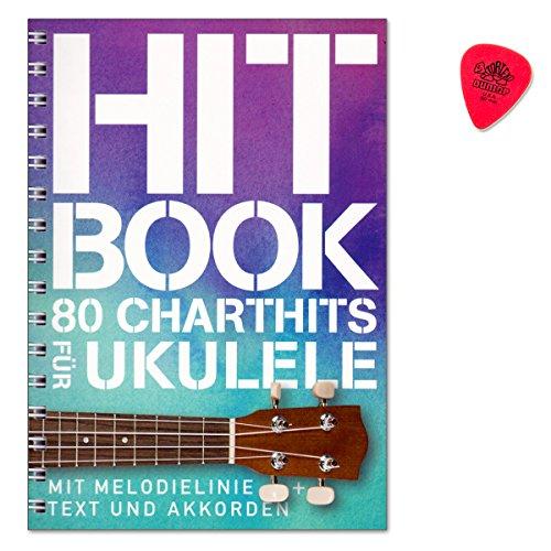 Hitbook - 80 Charthits für Ukulele - gelungene Mischung aus aktuellen Top-Titeln und etwas älteren Hit - Melodielinie und Akkorden - Text mit Akkorden - Songbook mit PLEK - BOE7854-9783865439598