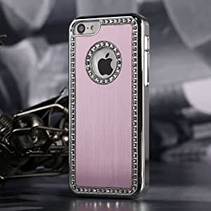 Premium Case For Iphone 5/5S Deluxe Pink brushed aluminum diamond case bling cover for iphone 5/5S by G4GADGET