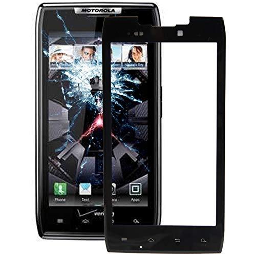 Godlikematealliance LCD Screen Reparatur und Ersatzteile Motorola XT910 Neue vordere Glaslinse (Schwarz)