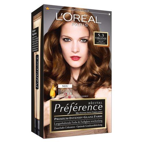L\'Oréal Paris Préférence, 5.3 Helles Goldbraun, 3er Pack (3 x 1 Stück)