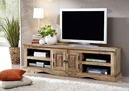 Massiv Holz Kolonialart Möbel Sheesham geölt TV-Board Palisander grau Massivmöbel grau Robin #48