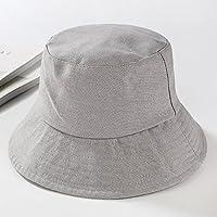 LTQ&qing Sombrero de pescador simple hombres y mujeres de tapa plana plegable Sombrero de tela de sombrero de color s¨®lido , »ÒÉ« , m (56-58cm)