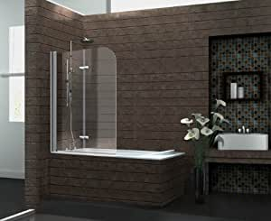duschtrennwand brease 120 x 140 badewanne. Black Bedroom Furniture Sets. Home Design Ideas