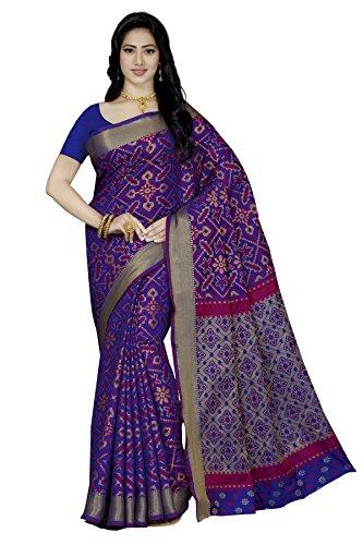 Rani Saahiba Patola Style Art Silk Saree ( SKR3154_Royal Blue )